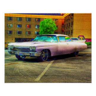 who doesnt love a pink Cadillac Poster