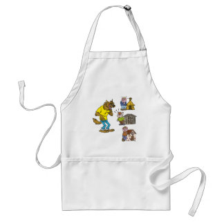 Who fears the Big Bully Wolf Cooking Apron