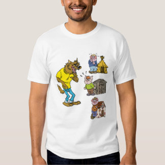Who fears the Big Bully Wolf? Kids T-Shirt