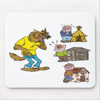 Who fears the Big Bully Wolf? Mousepad