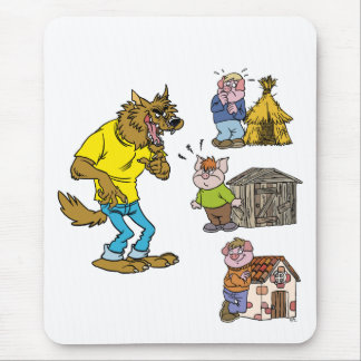 Who fears the Big Bully Wolf Mousepad