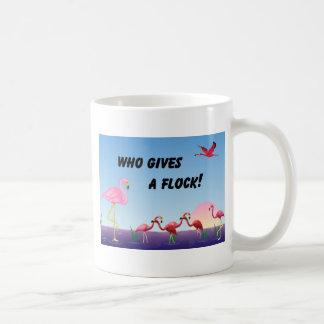 Who Gives A Flock ! Basic White Mug