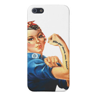 Who gon' check me, boo? - Tattooed Rosie iPhone 5/5S Cases