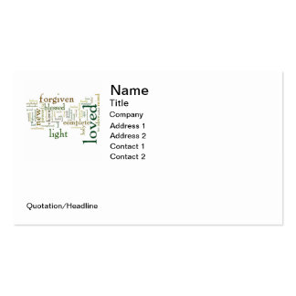 Who I am in Christ Light Colors Pack Of Standard Business Cards