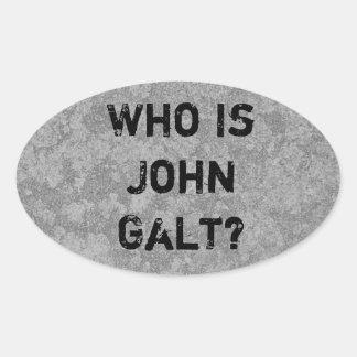 Who Is John Galt? Oval Sticker