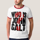 Who is John Galt? with red question mark T-Shirt