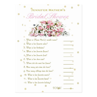 Who' Know's Me Game | Pink Roses Postcard