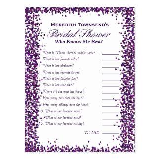 Who' Know's Me Game | Purple Confetti Postcard
