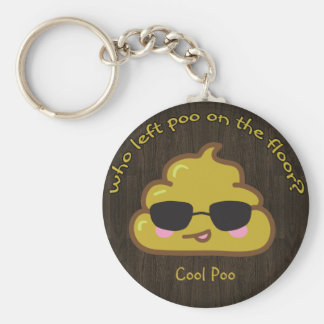 "Who left ""cool"" poo on the floor? key ring"