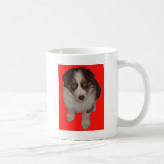 Who me? Aussie Puppy Red Basic White Mug
