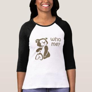 Who Me Cartoon Teddy Bear Women's Shirt
