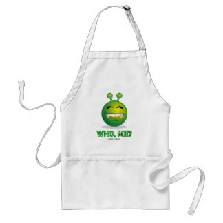 Who, Me? (Green Alien Attitude) Standard Apron