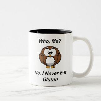 Who, Me?  No, I Never Eat Gluten Two-Tone Mug