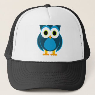 Who? Mr. Owl Cartoon Trucker Hat