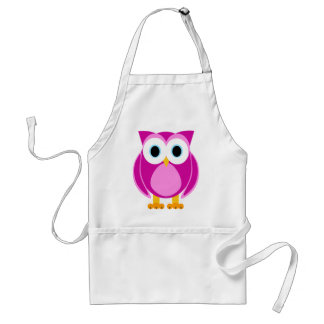 Who? Mrs. Owl Cartoon Standard Apron