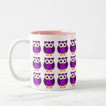 Who? Mrs. Purple Owl Cartoon Coffee Mugs