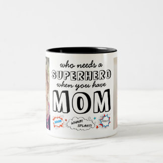 Who Needs a Superhero When You Have Mum Two-Tone Coffee Mug