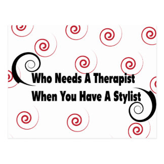(who needs a therapist when you have a stylist postcard