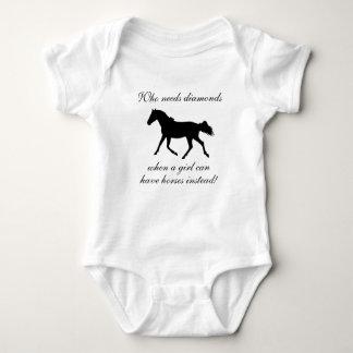 Who Needs Diamonds Horse Baby Bodysuit