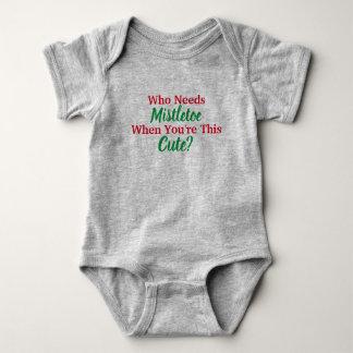 Who Needs Mistletoe? Baby Bodysuit