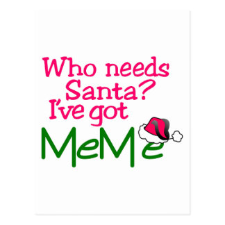 Who Needs Santa Postcard