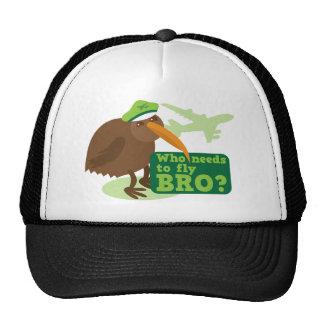 Who needs to fly bro? kiwi bird Humor Cap