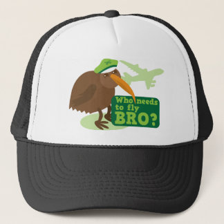Who needs to fly bro? kiwi bird Humor Trucker Hat
