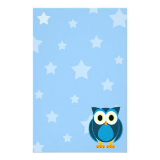 Who? Owl Under The Stars Stationery