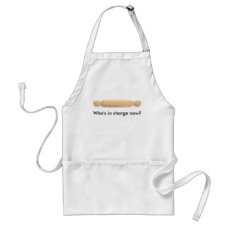 Who s in charge now aprons