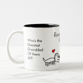 Who's The Greatest Granddad Of Them All, Dinosaur Two-Tone Mug