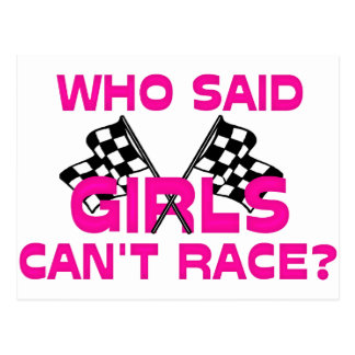 Who Said Girls Can't Race? Postcard