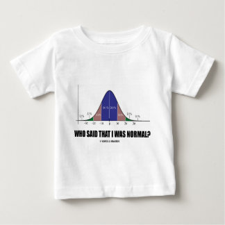 Who Said That I Was Normal? (Bell Curve Humor) Baby T-Shirt