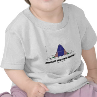 Who Said That I Was Normal Bell Curve Humor Tshirt