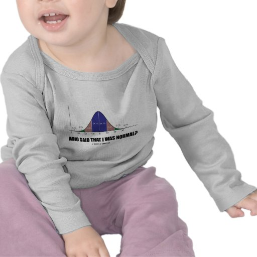Who Said That I Was Normal? (Bell Curve Humor) T-shirt
