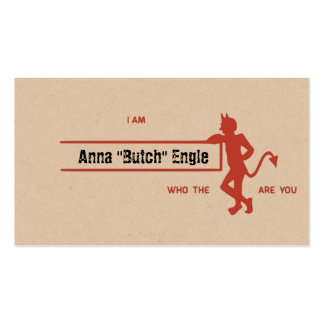 Who The Devil Are You? Pack Of Standard Business Cards