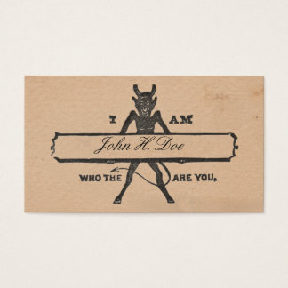 """Who the Devil are You"" Victorian Calling Cards V1"