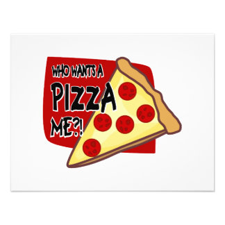 Who Wants A Pizza Me Personalized Invitations
