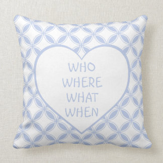 Who What Where When Get Bedcred Cushion