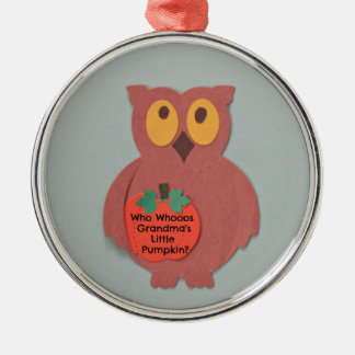 Who Whoos Grandma's Little Pumpkin Christmas Ornament