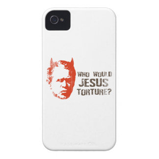 Who would Jesus torture Faded.png iPhone 4 Case-Mate Case