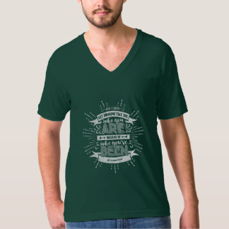 Who You Are Forest Green Unisex V-Neck T-Shirt