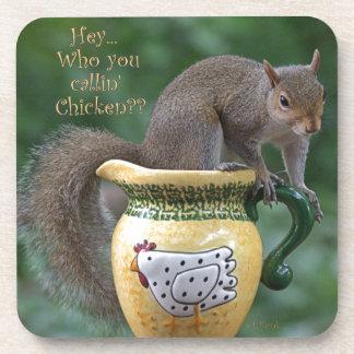 Who you callin' Chicken? Drink Coaster