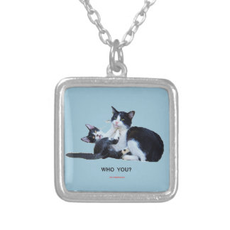 Who You Cats Square Pendant Necklace