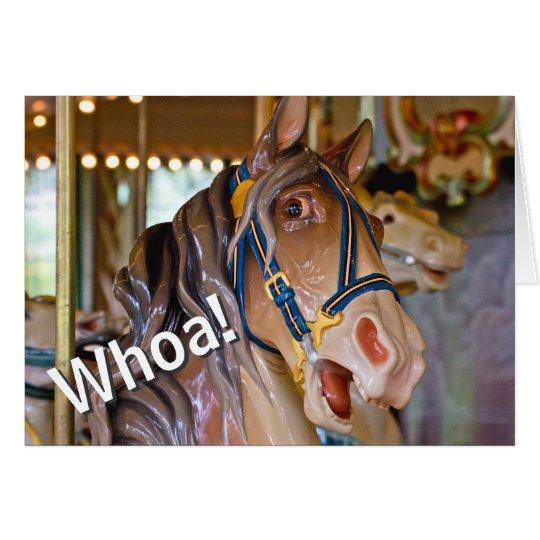 Whoa! Look Who's 50 Carousel Horse Happy Birthday