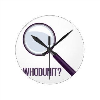 Whodunit Clock