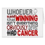 Whoever Said Bone Cancer Greeting Card