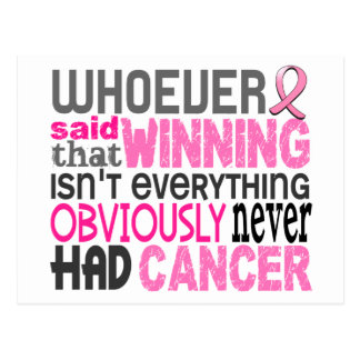 Whoever Said Breast Cancer Post Card