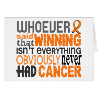 Whoever Said Kidney Cancer Cards