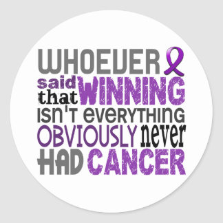 Whoever Said Pancreatic Cancer Round Stickers