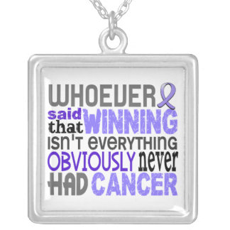 Whoever Said Stomach Cancer Square Pendant Necklace